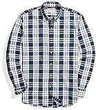 Goodthreads Men's Standard-Fit Long-Sleeve Pattern Chambray Shirt, Plaid, X-Large