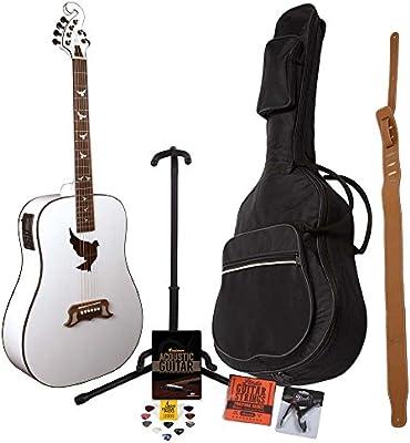 Guitarra electroacústica Lindo White Dove con afinador LCD XLR ...