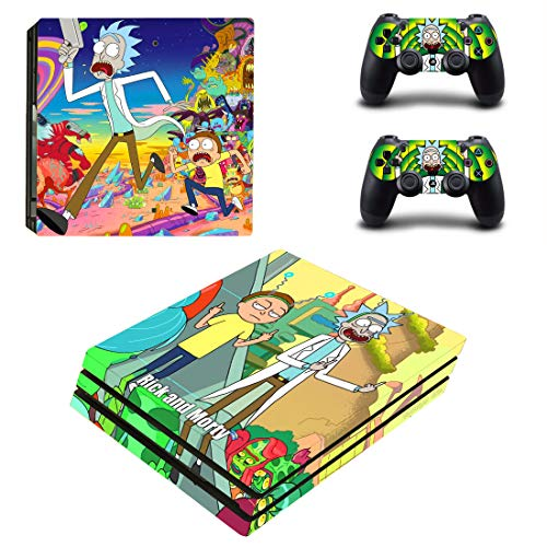 Decal Moments PS4 Pro Console Skin Set Vinyl Decals Stickers for Playstation 4 Pro Console Dualshock...