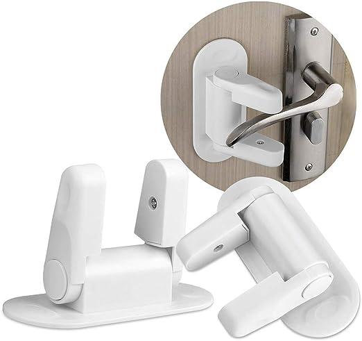 Pinacis 2 Pack Cierres de Seguridad Puerta de bebé Bloqueo de Palanca de Puerta manijas de Bloqueo de Palanca de Puerta Puertas y Asas de Seguridad con Adhesivo de 3M: Amazon.es: Hogar