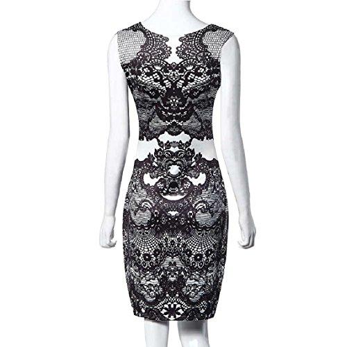 Malloom® Fleur Copie Vintage Robe Sans Manches élégante Robe De Crayon