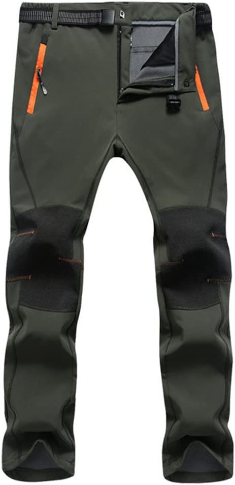 SUKUTU Pantalones de Senderismo para Hombres al Aire Libre Pantalones Multibolsillos Ligeros Transpirables para Caminar montaña Correr con cinturón