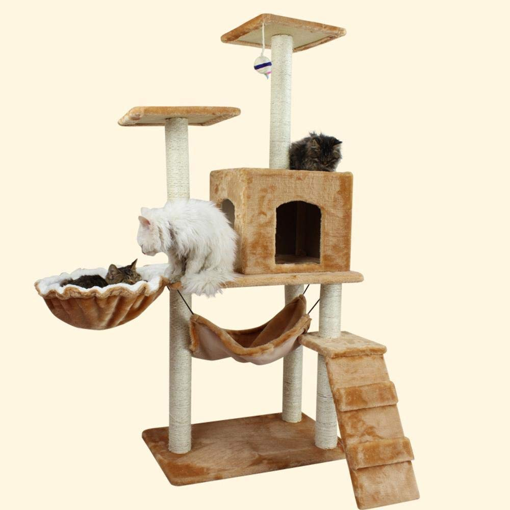 Deluxe Multi Cat Tower Creative Play Towers Trees for Cats Cat Scratch Board sisal with Thick cat Toy Fun add Spoon pet Toy 65cm45cm140cm