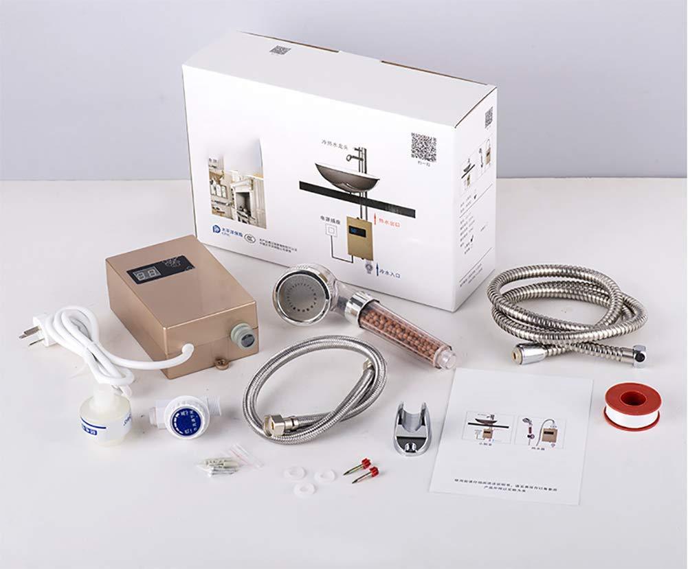 Ipx4 Geeignet f/ür K/üche//Bad//Hotel 12 * 4 * 2 Zoll 3.5KW 50HZ Wasserdichtes Niveau FYLD Mini-elektrischer Warmwasserbereiter schnelle Heizung gebrauchsfertig