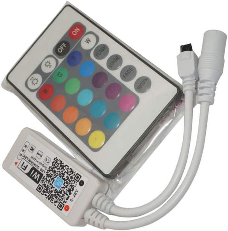 Hotaluyt Inicio DC5V 12V 24V Bluetooth Wireless WiFi Controller RGB/Controlador LED RF IR RGBW, 24key IR RGB WiFi