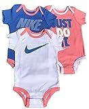 Nike Baby Girls Bodysuits Onesies, Set of 3 in Gift Box, 6-12 months