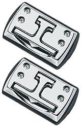 Highland (9150100) Chrome Fold-Away Cleats - 2 Piece