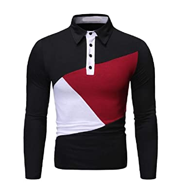 securiuu - Polo de Manga Larga para Hombre (Talla Grande), Color ...