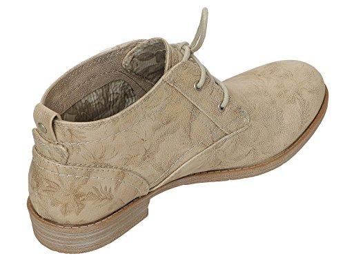 Mustang 1157-554 Scarpe Da Donna Stivaletti Estivi Lace-up Desert Boots Beige
