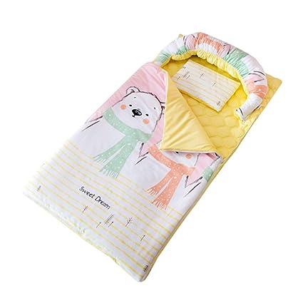 JSIHENA Saco Dormir Algodón Recién Nacido bebé Anti-Patada Saco de Dormir de bebé No