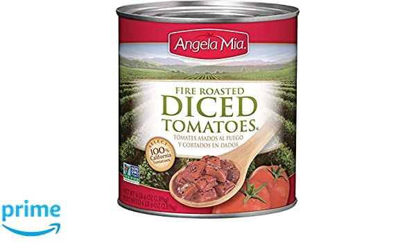 Amazon.com : Angela Mia Fire Roasted Diced Tomatoes, 102 Ounce (Pack of 6) : Tomatoes Produce : Grocery & Gourmet Food