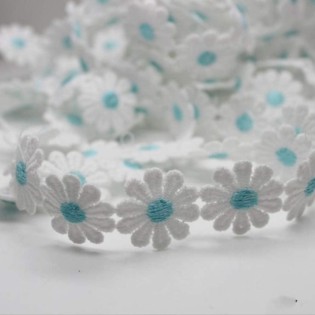 liyhh 1 Yard Flower Lace Edge 2.5cm//0.98 Trim Ribbon Wedding Applique DIY Sewing Crafts-White Milk Fiber Decor Black