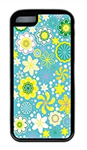 Hot iPhone 5C Customized Unique Print Design Floral Pattern New Fashion Tpu Black iPhone 5C Cases