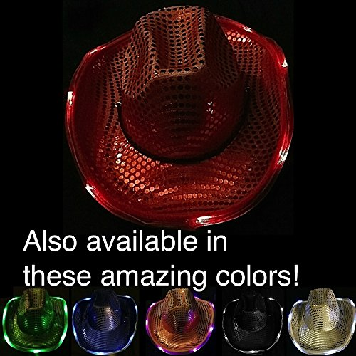 [LIGHT UP THE DANCE FLOOR! with a Light Up Cowboy/Cowgirl Hat! - the BEST gift for COUNTRY MUSIC fans! Be