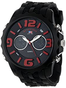 U.S. Polo Assn. Sport Men's US9117 Black Silicone Analog Digital Watch from U.S. Polo Assn. Sport
