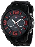 U.S. Polo Assn. Sport Men's US9117  Black Silicone Analog Digital Watch, Watch Central