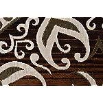 Vram Printed Carpet (Camel-Brown, Velvet, 5 x 7feet)