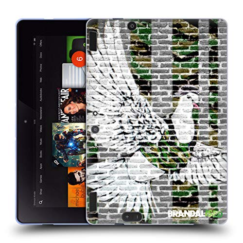 Official Brandalised Dove Banksy Coloured Street Art Soft Gel Case Compatible for Amazon Kindle Fire HDX 8.9 (Banksy Kindle Case)