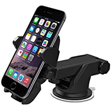 Eximtrade Universal Car Mount Phone Holder Suction Cup for Apple iPhone 4/4s/5/5s/6/6s/6 Plus/6s Plus, Samsung Galaxy S4/S5/S6/S6 Edge/S6 Edge Plus/Note 3/Note 4/Note 5, HTC One, Motorola, Sony Xperia, Other Smartphones