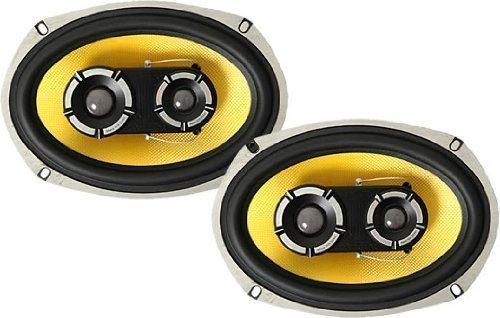 Pair Vibe Audio BA69 BlackAir 69 6x9 inch 3-Way 525w 525 Watts Car Rear Parcel Shelf Coaxial Speakers
