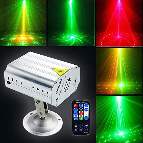 Party Lights, DJ Disco Stage Lights Sbolight Led Projector Karaoke Strobe Perform for Stage Lighting with Remote Control for Dancing Thanksgiving KTV Bar Birthday Outdoor -