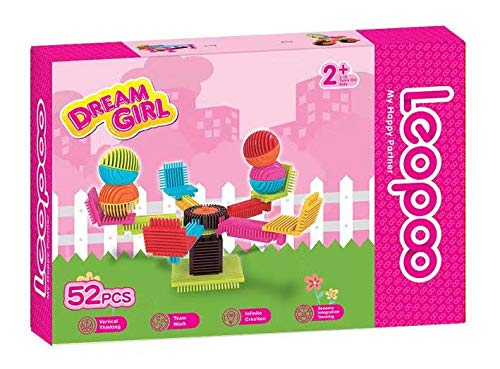 LeoPoo Leo Poo Children Building Blocks Varied Creative Classic Bricks Sets Preschool Boys Girls Learning Toys (Dream Girl)