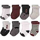 Hudson Baby Basic Socks, 8 Pack, Gentleman, 12-24 Months