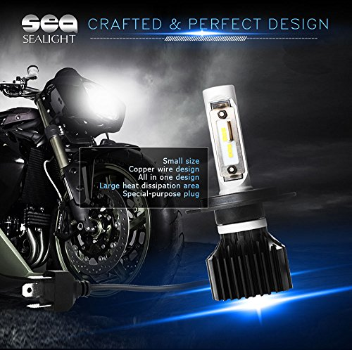 SEALIGHT-Motorcycle-H49003HB2-LED-Headlight-Bulbs-Conversion-Kit-40W-6000LM-12x-LED-Chips-Cool-White-6000K-HiLo-Beam-Bulbs