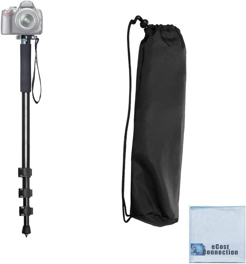 DSLR Acuvar 62 Inch Monopod with Integrated Safety Strap and 4 Section Extending Pole for All Digital Cameras Compact Cameras Mirrorless