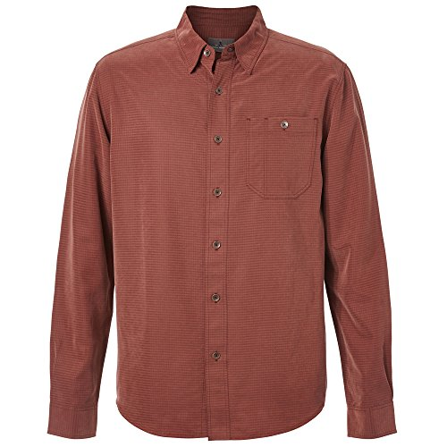 Royal Robbins Mojave Desert pucker l/S, Raisin, Large (S/s Desert Pucker Shirt)