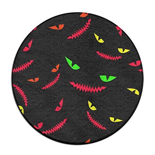 Sppmet Monster Halloween Ground Mat Circular Doormats Rug Pad Kids Tent Rugs Pink Coral Fleece 23.6 Inch(60cm) -