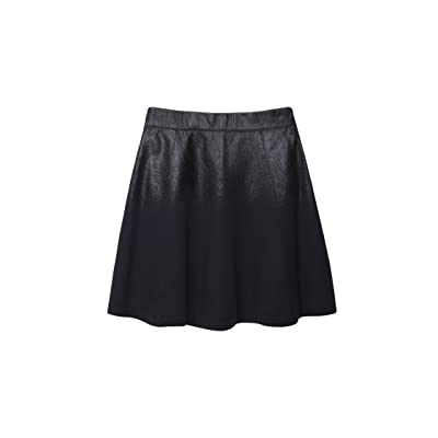 3.1 Phillip Lim Black Coated Wool Skirt L at Women's Clothing store