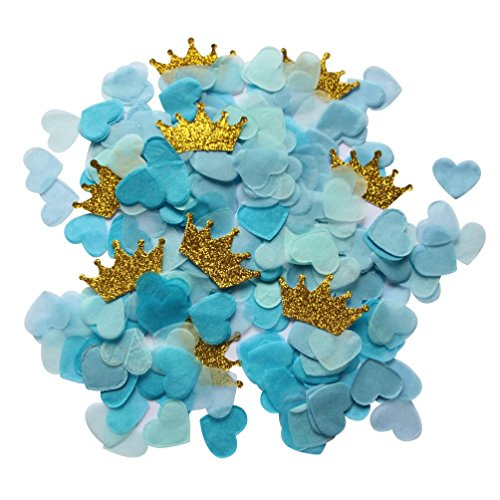 mybbshower-blue-paper-hearts-and-gold-glitter-crown-for-boy-birthday-party-table-decor-pack-of-1-oz