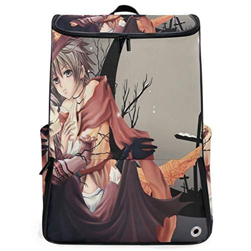 (Travel Backpack Amazing Halloween Anime Wallpaper Sprot Backpack for Women Big Backpacking)