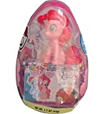 My Little Pony Jumbo Party Easter Egg With Jelly Beans & Figurine Inside Assorted Colors(Pink or Blue)