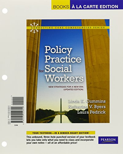 Policy Practice for Social Workers: New Strategies for a New Era (Updated Edition), Books a la Carte Edition