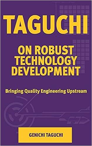 Taguchi On Robust Technology Development Bringing Quality Engineering Upstream Asme Press Series On International Advances In Design Productivity Genichi Taguchi 9780791800287 Amazon Com Books