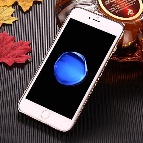MXNET Iphone 7 Plus Fall, geprägtes Schwan Muster Galvanisieren TPU Schutzhülle Fall CASE FÜR IPHONE 7 PLUS ( Color : Gold )