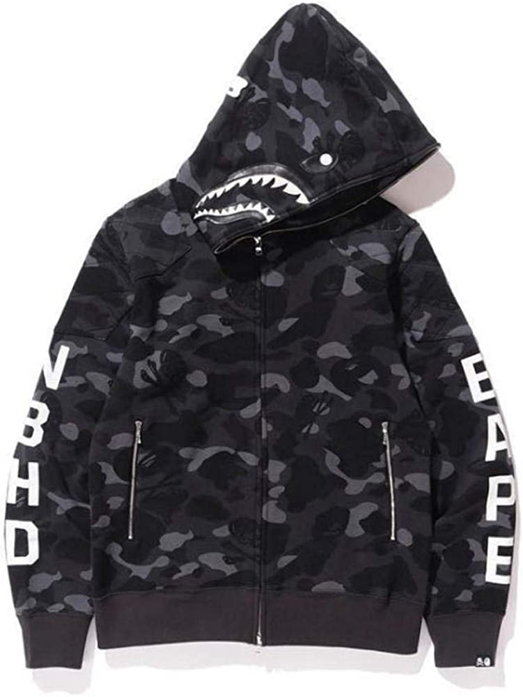 3D Printed Youth Hoodies with Zipper,Long Sleeve Cotton Leisure Outdoor Coat with Pocket BAPE Sweatshirts Be the coolest girl