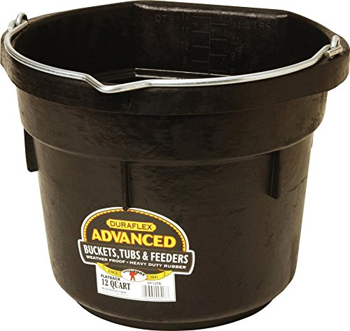 Miller CO Flat Back Pail, 12 quart, Black