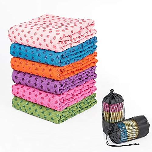 nobrand ZLEG Microfiber Thickening Non-Slip Yoga Blanket Long Washable Yoga Mat, Random Color Delivery Q