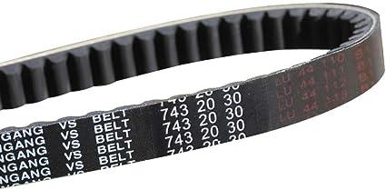 743 20 30 V-Belt CVT Drive Belt GY6 125cc 150cc Moped Scooter Go Kart Roketa