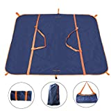 EDOBIL Beach Blanket, Outdoor Waterproof Travel Bag & Picnic Mat in one, Multifunctional Foldable Lightweight Picnic Blanket Bag for Outdoor Travel,Mountaineering,Beach,Camping,Picnic (Blue)