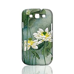 White Lotus 3D Rough Case Skin, fashion design image custom, durable hard 3D case cover, Case New Design for For Iphone 5/5S Case Cover , By Codystore