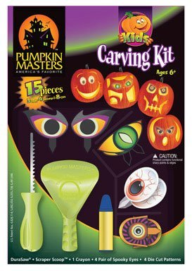 Kids's Carving Kit (15 Pcs) - Funny Pumpkin Carving