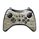 Flower Carved out of Wooden Background Wii U Pro Controller Vinyl Decal Sticker Skin by Moonlight Printing