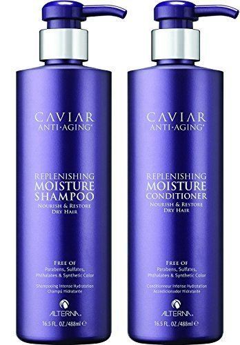 Alterna Caviar Anti-Aging Replenishing Moisture DUO: Shampoo and Conditioner (16.5 oz Each) by Alterna by Alterna
