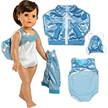 "3 PC. Gymnastics Leotard, Jacket, and Bag, Doll Gymnastics Outfit Fits 18"" Dolls Like American Girl"