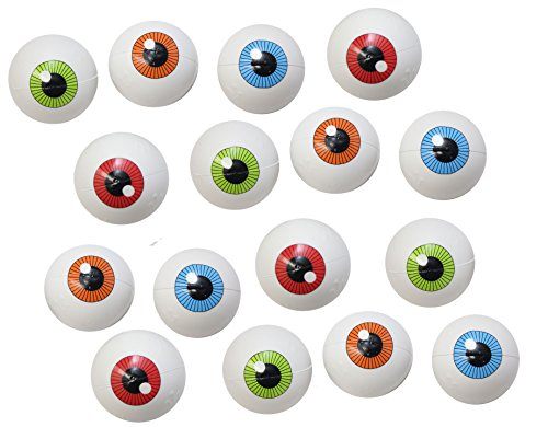 Bundle of 12 Eye Ball Party Favor Stress Balls, Pack of 12, Bulk Small Novelty Toy Prize Assortment for Birthday Halloween Party (Fine Motor Activities For Preschoolers Halloween)