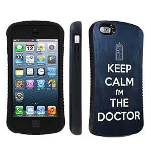 NakedShield Apple iphone 5C / 5S / 5 Keep Calm I am The Doctor Heavy Duty Shock Proof Armor Art Phone Case